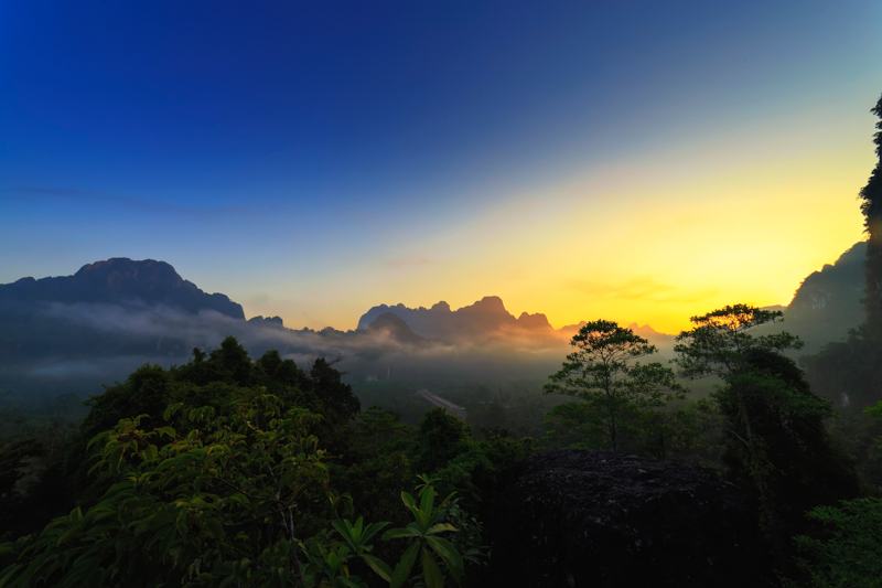 A Sunrise Over Khao Sok National Park, Thailand, by Elephant Hills Thailand