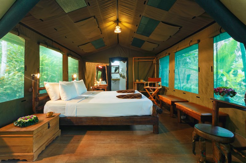 Elephant Hills Khao Sok National Park, Thailand, The Elephant Camp Luxury Tent Inside_update