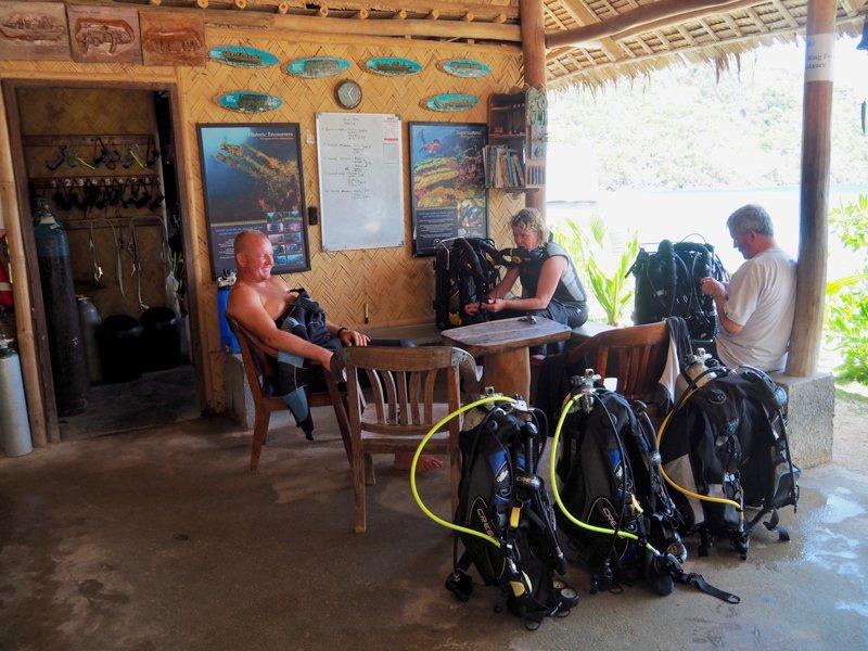 Sangat Dive shop