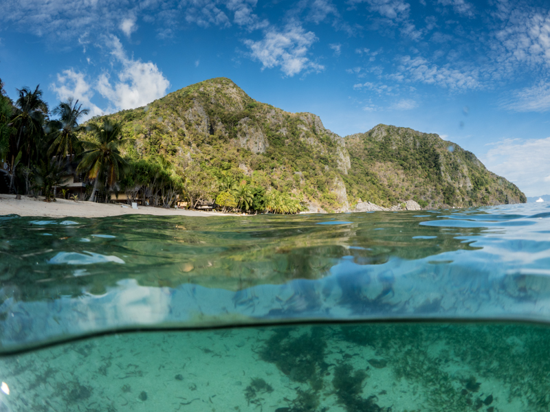 Sangat Reef beach