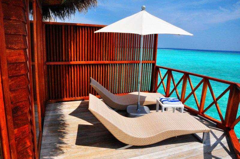 Angaga Island Resort _ Water Bungalow deck