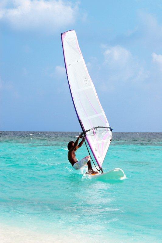 Angaga Island Resort _ Windsurfing